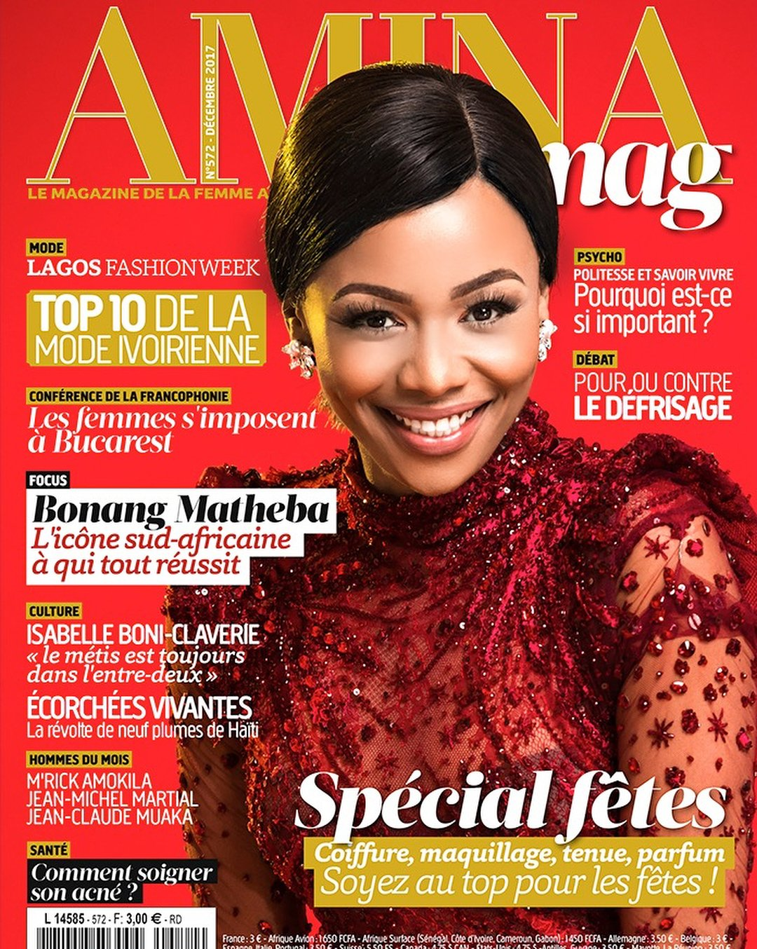 Bonang looks stunning in new magazine cover