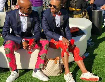 Somizi and Mohale celebrate their one year anniversary