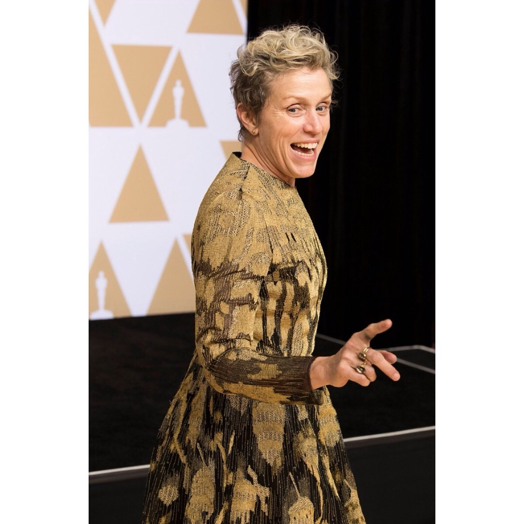 Frances McDormand gives rousing Oscars speech and commands all female standing ovation