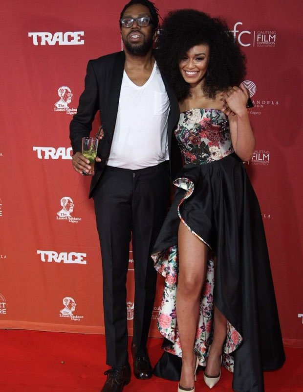 Pearl Thusi At The Catching Feelings Movie Premiere Photos
