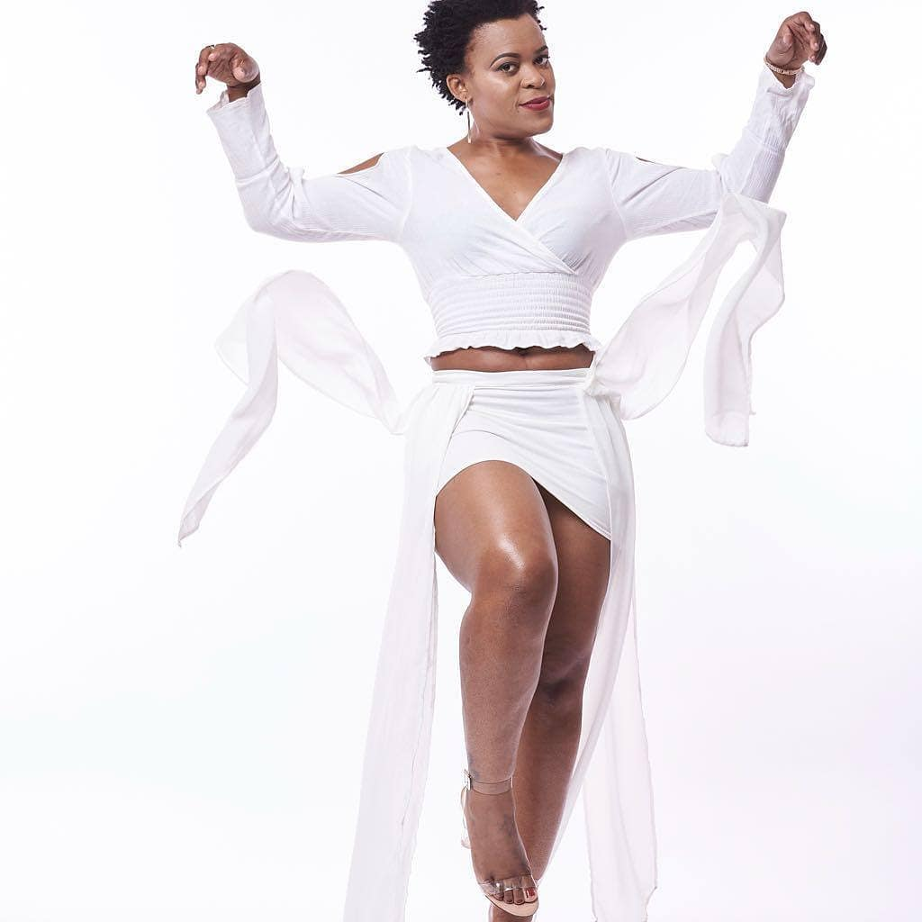 Zodwa wa Bantu rocks the red carpet in bridal wear (Video)