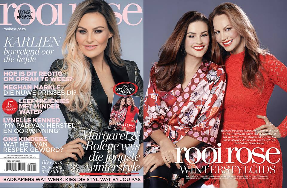 Rolene Strauss and Margaret Gardiner look great on the same magazine cover