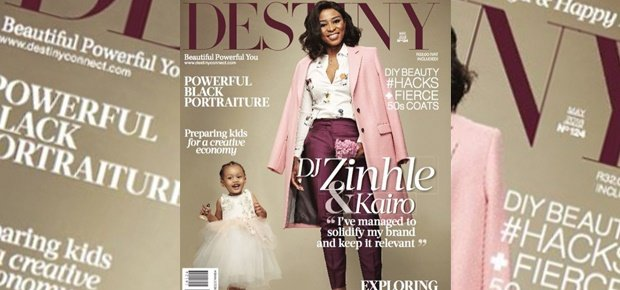DJ Zinhle and Kairo on the cover of Destiny Magazine