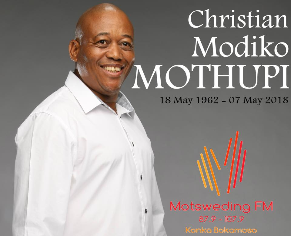 Modiko Mothupi has died