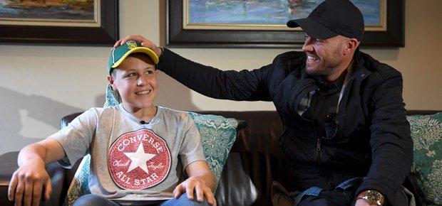 AB de Villiers surprises 14 year old fan (Video)