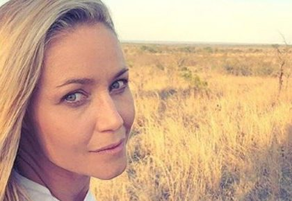 Photos: Kerry McGregor chills with leopard
