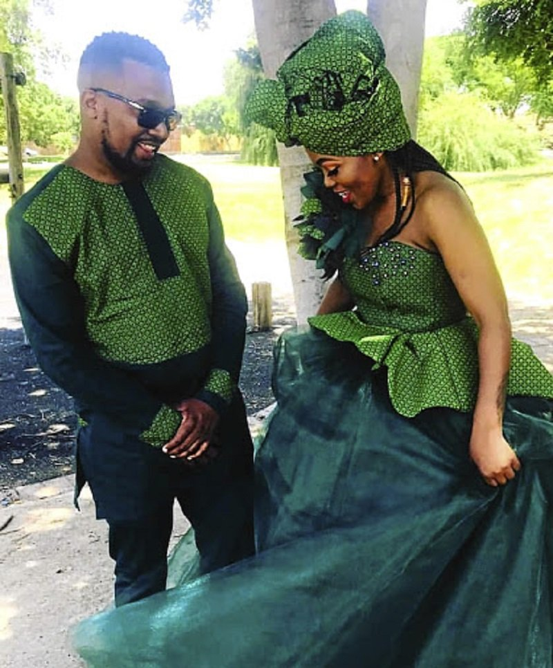 Tshepang and Pheko Kgengoe's Green Wedding In Photos