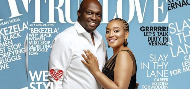 Couple Thabo and Mapaseka Mokwele grace True Love cover