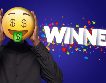 Kshs 10 million Mozzart Daily Jackpot winner wears an emoji to hide face!
