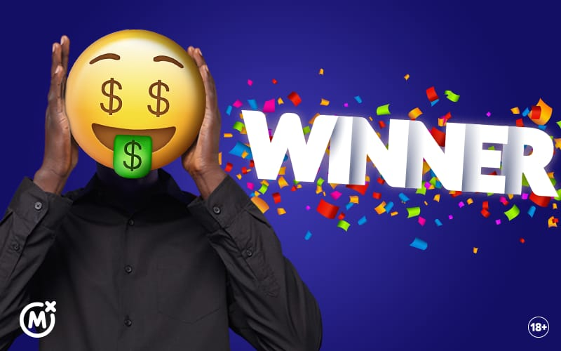 Kshs 10 million Mozzart Daily Jackpot winner wears an emoji to hide face!