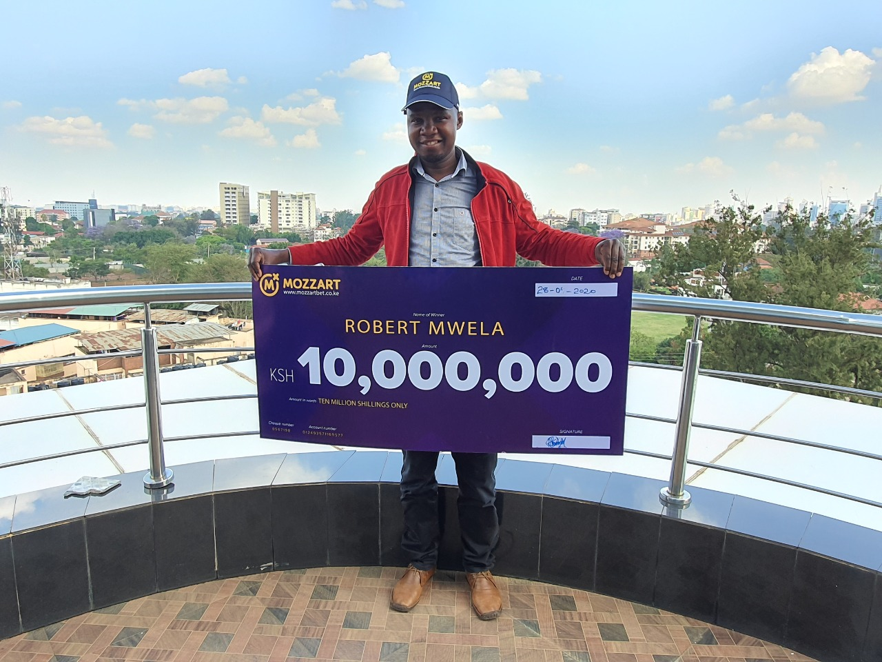 The newest millionaire in town - Mr. Robert Mwela