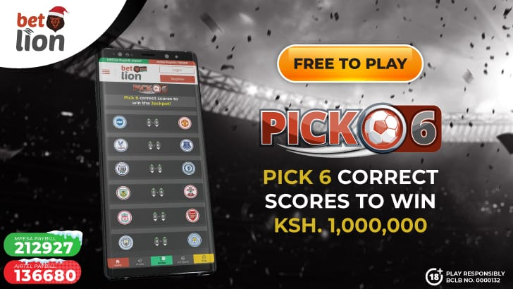 Did you know that you can walk away with Ksh. 1 million, or, at the least Ksh. 100k by just predicting 6 EPL games?