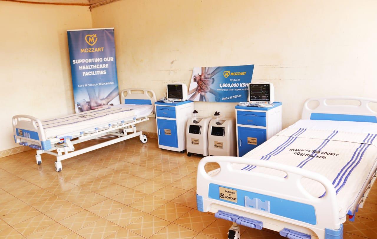 Mozzart donates ICU equipment worth Ksh 1.5 million to Nyamache Sub County Referral Hospital in Kisii County