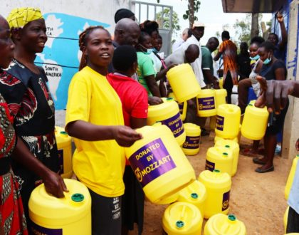 Mozzart changing livelihoods as they provide clean water to the people of Lurambi in Kakamega