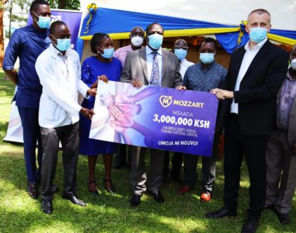 Mozzart lands in Kakamega County General Hospital with life-changing medical equipment worth Ksh 3 million