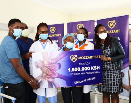 Mozzart extends CSR Initiative to reach Waithaka Health Center with a medical equipment donation worth Ksh 1.5 Million