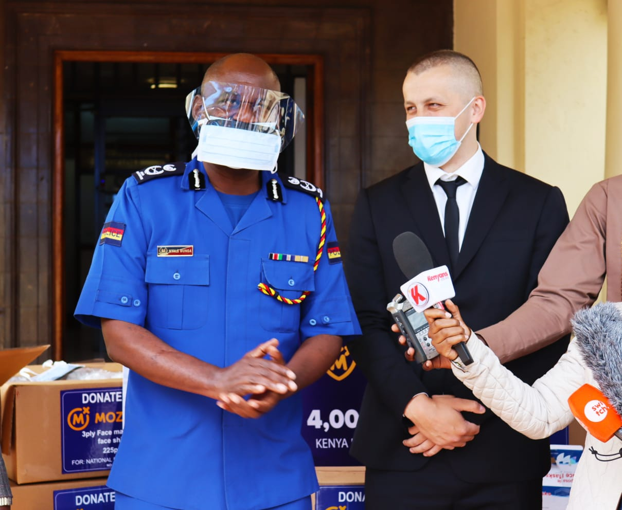 Mozzart supports the Kenya Police force with a donation of PPE's worth Ksh 4 Million