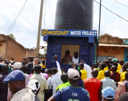 Busia County people in celebration mode as Mozzart commissions a community Clean Water Project worth Ksh. 2.3M