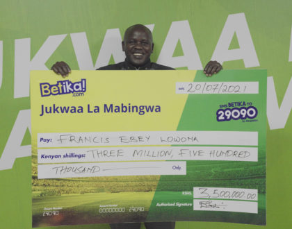 5 lucky winners grab Betika's 15 million Midweek Jackpot