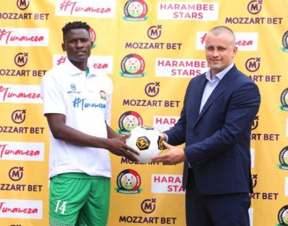Mozzart hands Nick Mwendwa Ksh3M sponsorship deal as Harambee Stars face Mali at Nyayo Stadium on Sunday