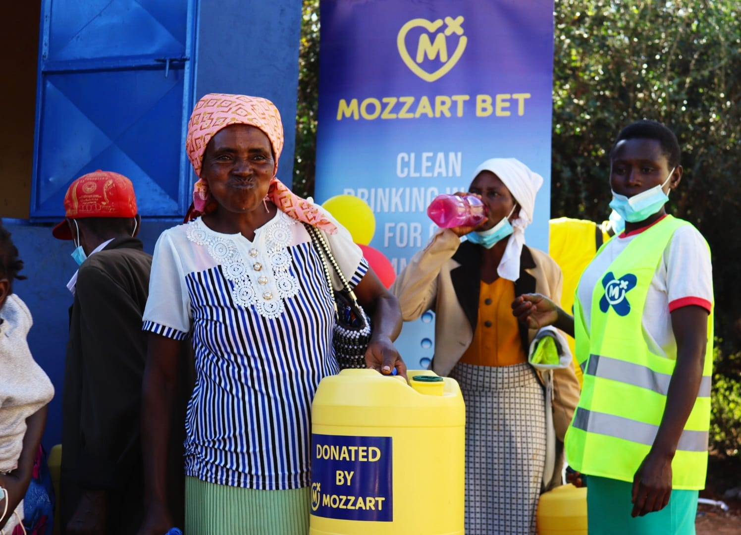 Mozzart commissions a multi-million shilling fresh water point for the people of Murang'a