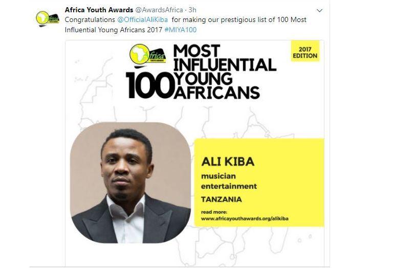 Alikiba afunguka baada ya kutajwa katika orodha ya vijana 100 wenye ushawishi Afrika