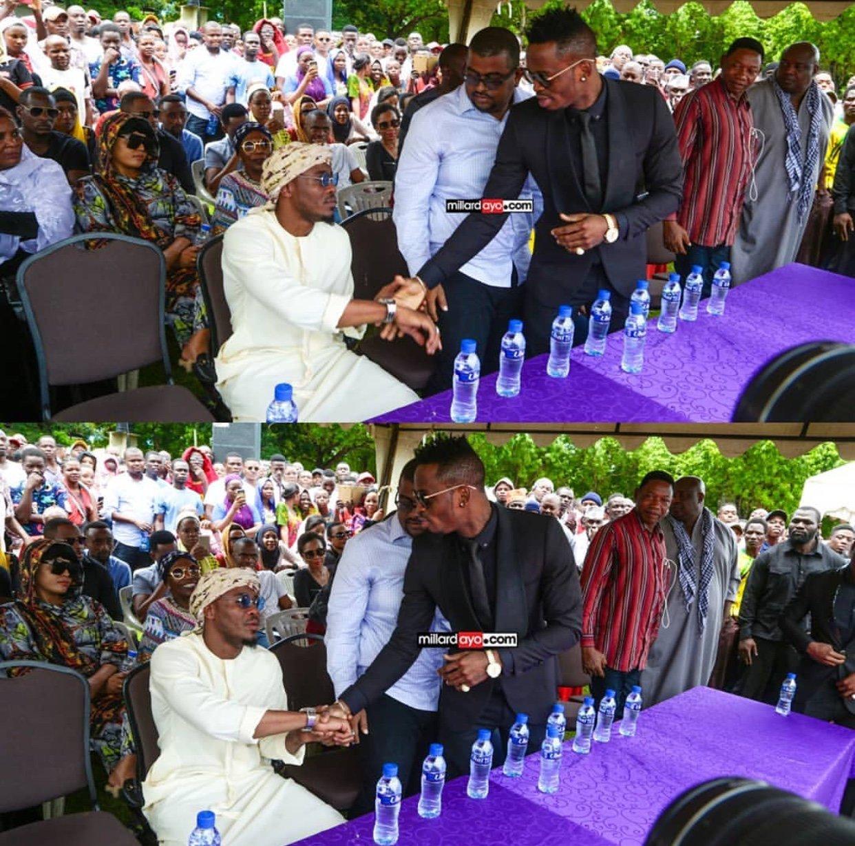 Ali Kiba na Diamond Uso Kwa Uso Kwenye Msiba Wa Masogange