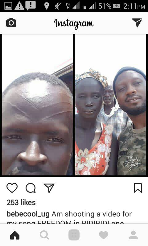 Bebe Cool to Mark His face the Sudanese way in Support of Peace and Freedom in South Sudan