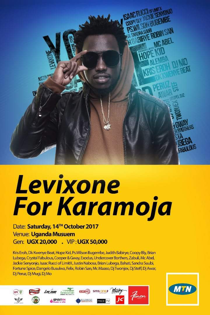 Levixone Concert for Karamoja this 14th October