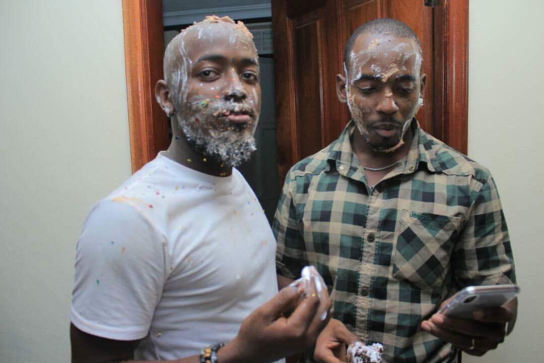Ykee Benda Looks Cute With Cake on His Face At Suprise Birthday Party.