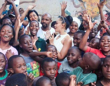 Zari Hassan does Charity at M-Lisada Orphanage Ahead of White Party