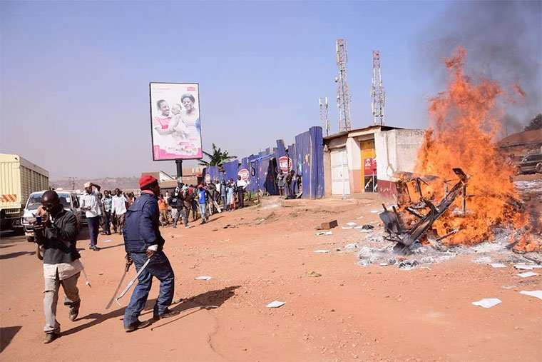 Boda Boda 2010 Offices Set Ablaze By Angry Motorcyclists