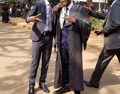 Bobi Wine's Little Brother Graduates With a BBA