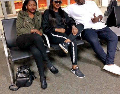 Irene Ntale in studio with Tiwa Savage. Big things cooking