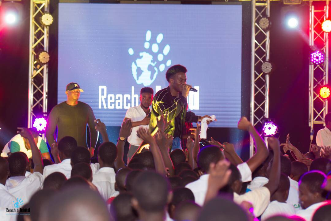 Korede Bello Performs At Reach a Hand Uganda Music Concert