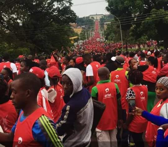 Thousands of People Turn up for the Kabaka's Run 2018