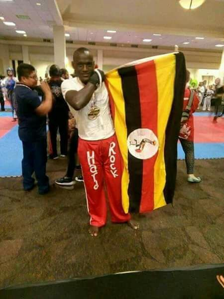 Titus Tugume wins Two Gold and one Silver Medal at the World Kickboxing and Karate Union games