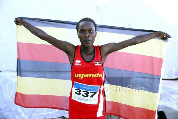 Stella Chesang wins Gold in the Women's 10,000m