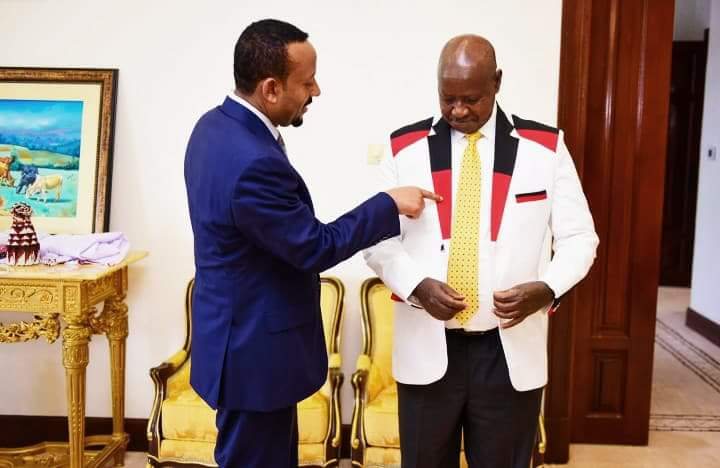 Ethiopian Prime Minister Hooks Museveni Up With Designer Fitting Jacket