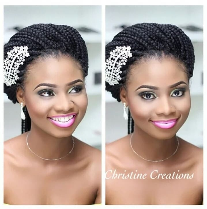 Wedding Hairstyle With Braids: How To Style Your Box Braids For A Wedding