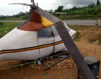 "Ugandan Aircraft Innovator tries to test his homemade ""chopper"", crashes"