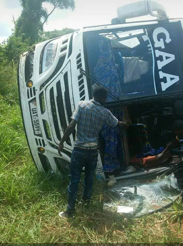Mystery, as Gaagaa Bus Gets Another Accident in Kiryandongo
