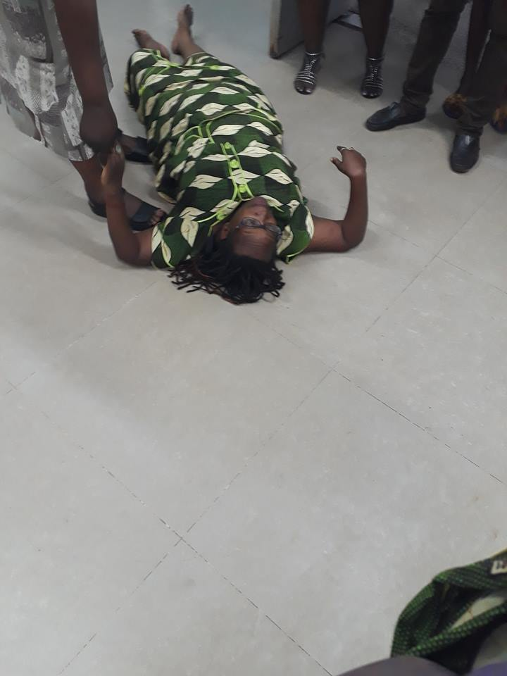 Dr Stella Nyanzi Faints During Arrest
