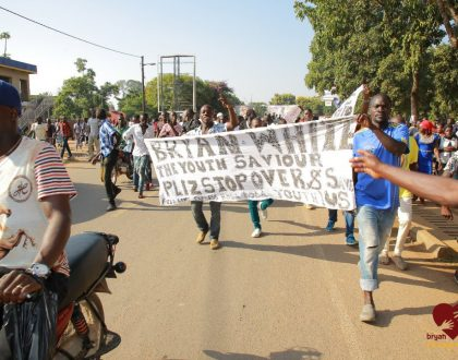 """Bryan White Receives Massive Welcome in Arua. Named the """"Youth Saviour"""""""