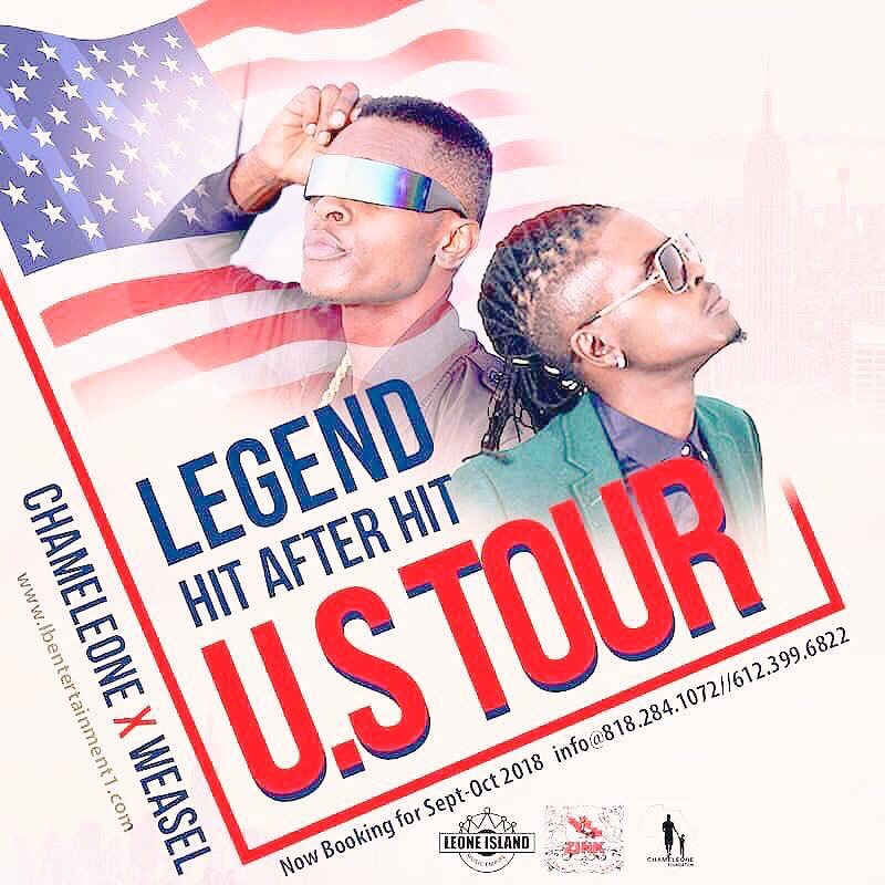 Chameleone and Weasel for USA Tour