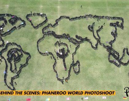 Phaneero Team Creates World Map in Photoshoot