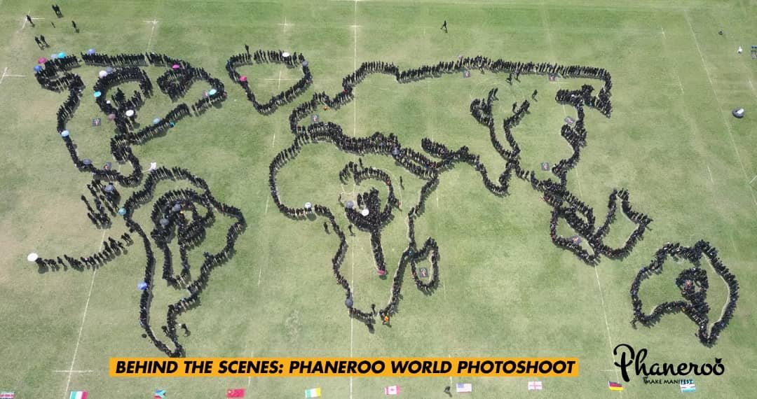 Phaneero Team Creates World Map in Photoshoot
