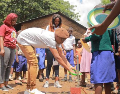 Bryan White Promises To Construct New Block For Arua Hill Primary School