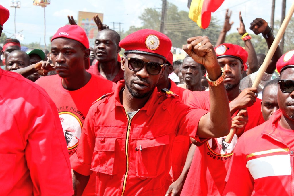 Shocking picture of Bobi Wine looking bruised and disoriented