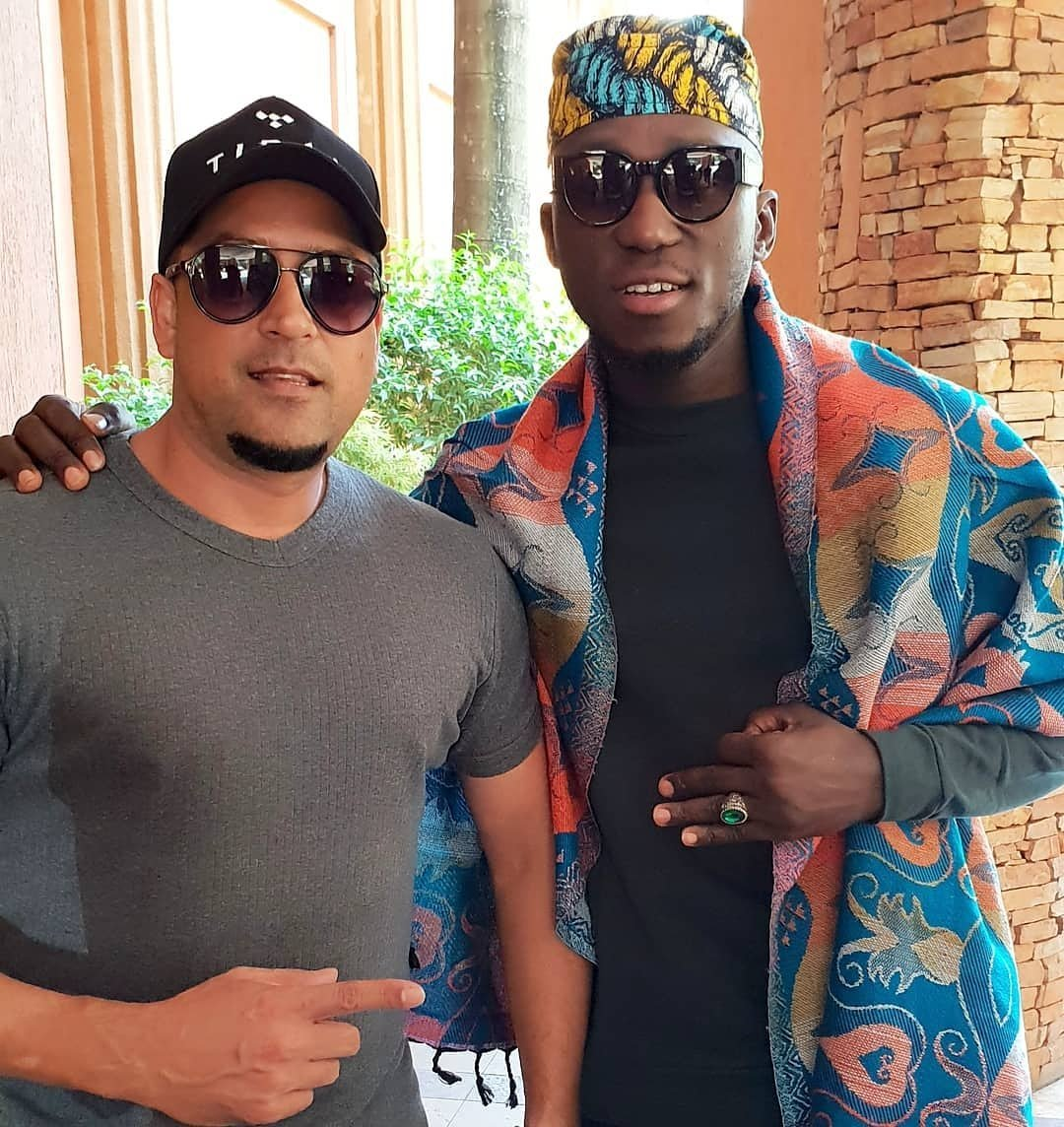 DJ Spinall from Nigeria In Uganda ahead of MTN Tidal Warehouse Party